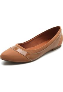 Sapatilha Dafiti Shoes Recorte Caramelo