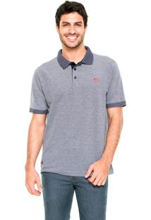 Camisa Polo Mr. Kitsch Bordado Azul-Marinho