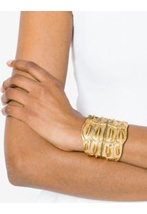 Saint Laurent Bracelete 'Opyum' Com Textura - Amarelo