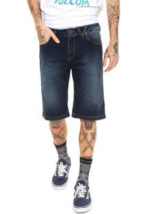 Bermuda Jeans Volcom Washed Solver Azul
