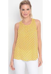 Blusa Floral- Amarela & Preta- My Favorite Thingsmy Favorite Things