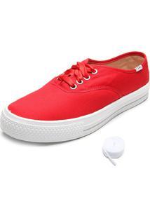 Tênis Fiveblu Liso Vermelho