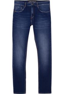 Calça John John Skinny Pureo Jeans Azul Masculina (Jeans Medio, 40)