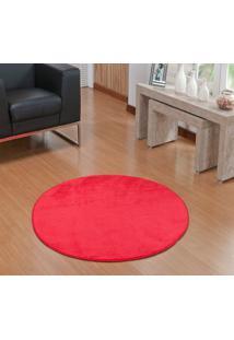 Tapete Liso Redondo Vermelho 1,50M Base Feltro Antiderrapante - Multicolorido - Dafiti