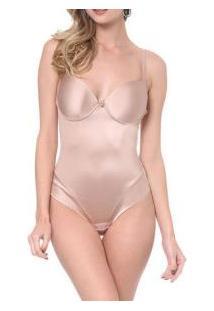 Body Modelador Com Brilho Acetinado Morisco (6555) Cavas Sem Costura