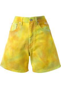 Msgm Bermuda Tie-Dye - Amarelo
