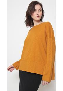 Blusa Texturizada Com Fendas-Amarelaosklen