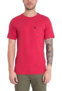 Camiseta Timberland Dunstan Rvr Pocket Masculina - Masculino-Rosa