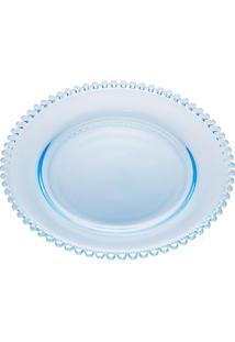 Sousplat Cristal Pearl Azul Claro 32Cm