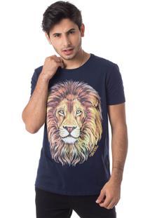 Camiseta Família Leão Gola Redonda Thiago Brado 1107000001 Marinho