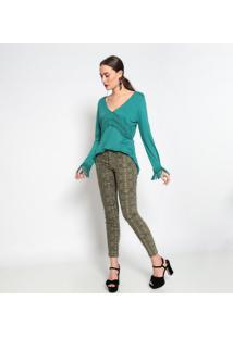 Blusa Com Macramê- Verdebobstore