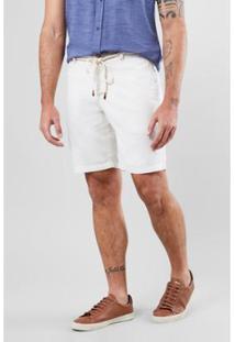 Bermuda Casual Reserva Masculina - Masculino-Off White