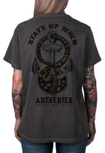 Camiseta Artseries State Of Mind Cobra & Âncora Grafite