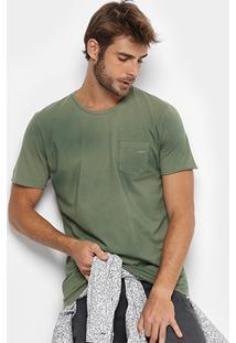Camiseta Colcci Estonada Bolso Masculina - Masculino