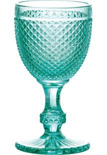 Conjunto 6 Taças De Vidro Para Água Bico De Jaca 255Ml – Linha Turquesa