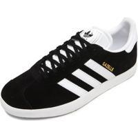 bd765c841f6 Tênis Couro Adidas Originals Gazelle Preto Branco