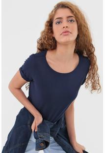 Camiseta Malwee Lisa Azul-Marinho