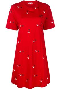Mcq Alexander Mcqueen Swallow Twins T-Shirt Dress - Vermelho