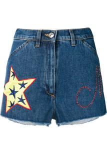 Moschino Short Denim Shorts - Azul