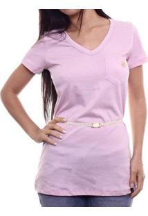 Camiseta Alma De Praia Maxi - Feminino-Rosa