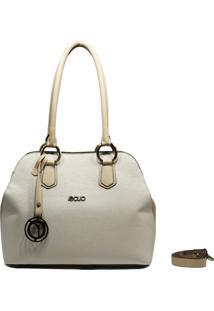Bolsa De Couro Recuo Fashion Bag Tiracolo Off Marfim