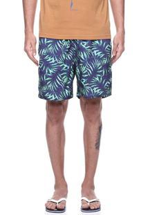Short Praia King&Joe Floral Verde