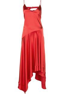 Fleur Du Mal Vestido Midi - Vermelho