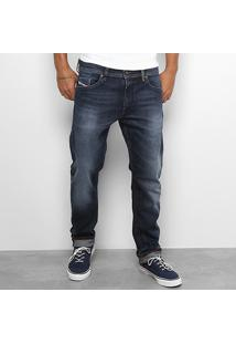 Calça Jeans Reta Diesel Thommer Estonada Masculina - Masculino-Jeans