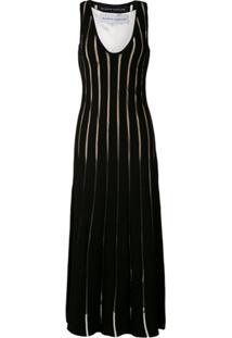 Gloria Coelho Vestido Longo De Tricô - Preto