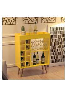 Aparador Bar Com Adega Sonatta - Amarelo - Rpm Móveis