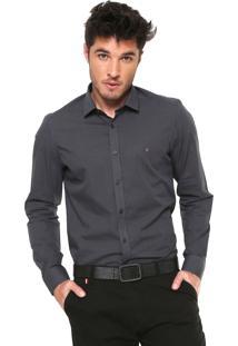Camisa Aramis Slim Padronagem Cinza