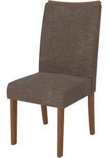 Cadeira Serena 2 Peças - Rústico Terrara Com Pena Marrom