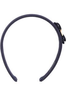 Salvatore Ferragamo Headband Com Laço - Azul