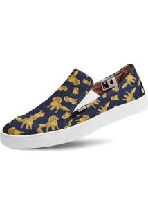 Tênis Usthemp Slip-On Vegano Casual Cavalier King Cocker S. Azul