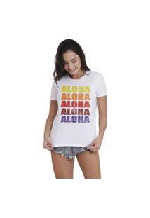 Camiseta Jay Jay Basica Aloha Branca Dtg