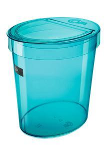Lixeira Oval Glass 26,2 X 18,4 X 24,6 Cm 5 L Verde Coza