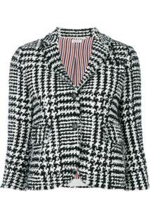 Thom Browne Blazer 'Prince Of Wales' De Tweed - Preto