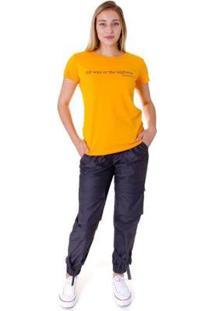 Camiseta Opera Rock T-Shirt Feminina - Feminino-Amarelo