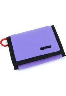 Carteira Velcro Perky Neon Roxa - Kanui