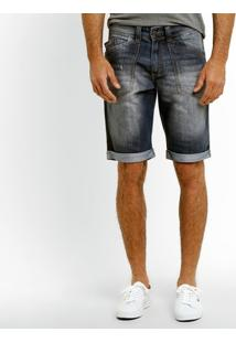 Bermuda Jeans Biotipo Estonada Barra Virada - Masculino