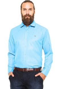 Camisa Mr. Kitsch Poá Azul