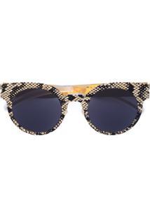 Mykita Óculos De Sol Com Efeito De Cobra - Preto