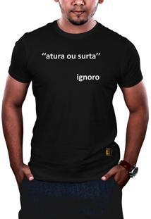 Camiseta Hunter Atura Ou Surta Preta