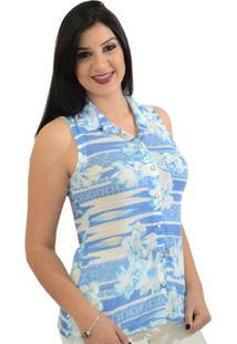 Camisa Moché Frescor - Feminino-Azul