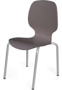 Cadeira Formiga Em Polipropileno Cinza Fendi Com Pes Aco Carbono - 48013 - Sun House