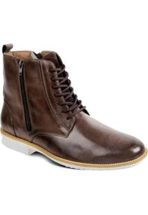 Bota Couro Sandro & Co.Dress Boot Masculino - Masculino-Café