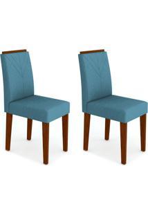 Conjunto Com 2 Cadeiras Amanda Castanho E Azul