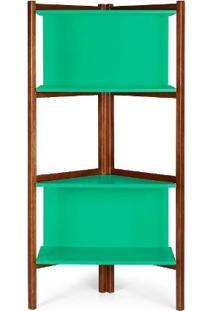 Estante Easy Cor Cacau Com Verde Anis - 29002