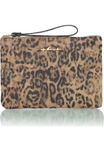Luiza Barcelos Clutch Animal Print - Onça