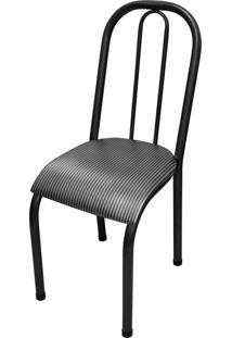 Cadeira Roma Baixa Branco/Tick Listras Açomix